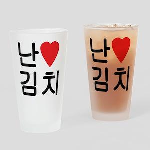 I Heart [Love] Kimchi Drinking Glass